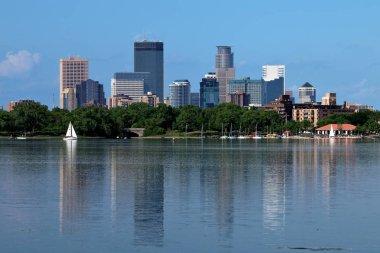 Minneapolis Skyline Reflecting in Lake Calhoun