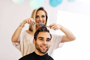 Adult man at the hair salon