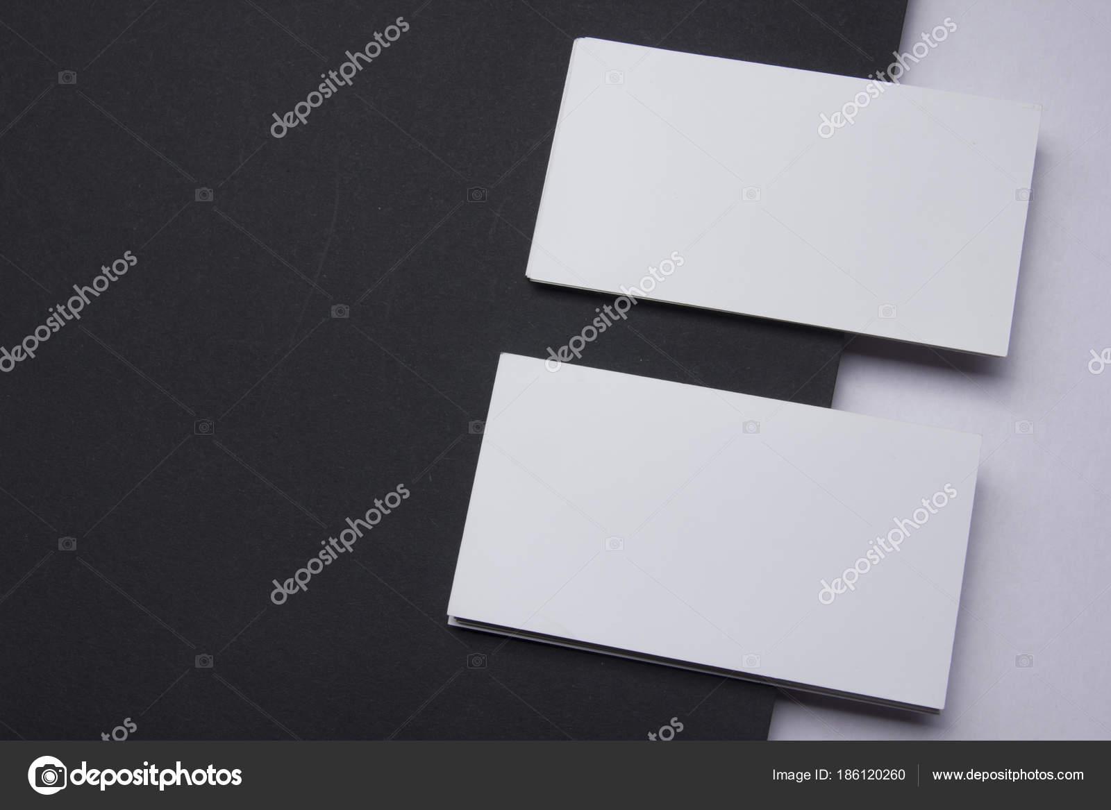 Visitenkarten Mock Up Auf Farbigem Hintergrund Flach Lag
