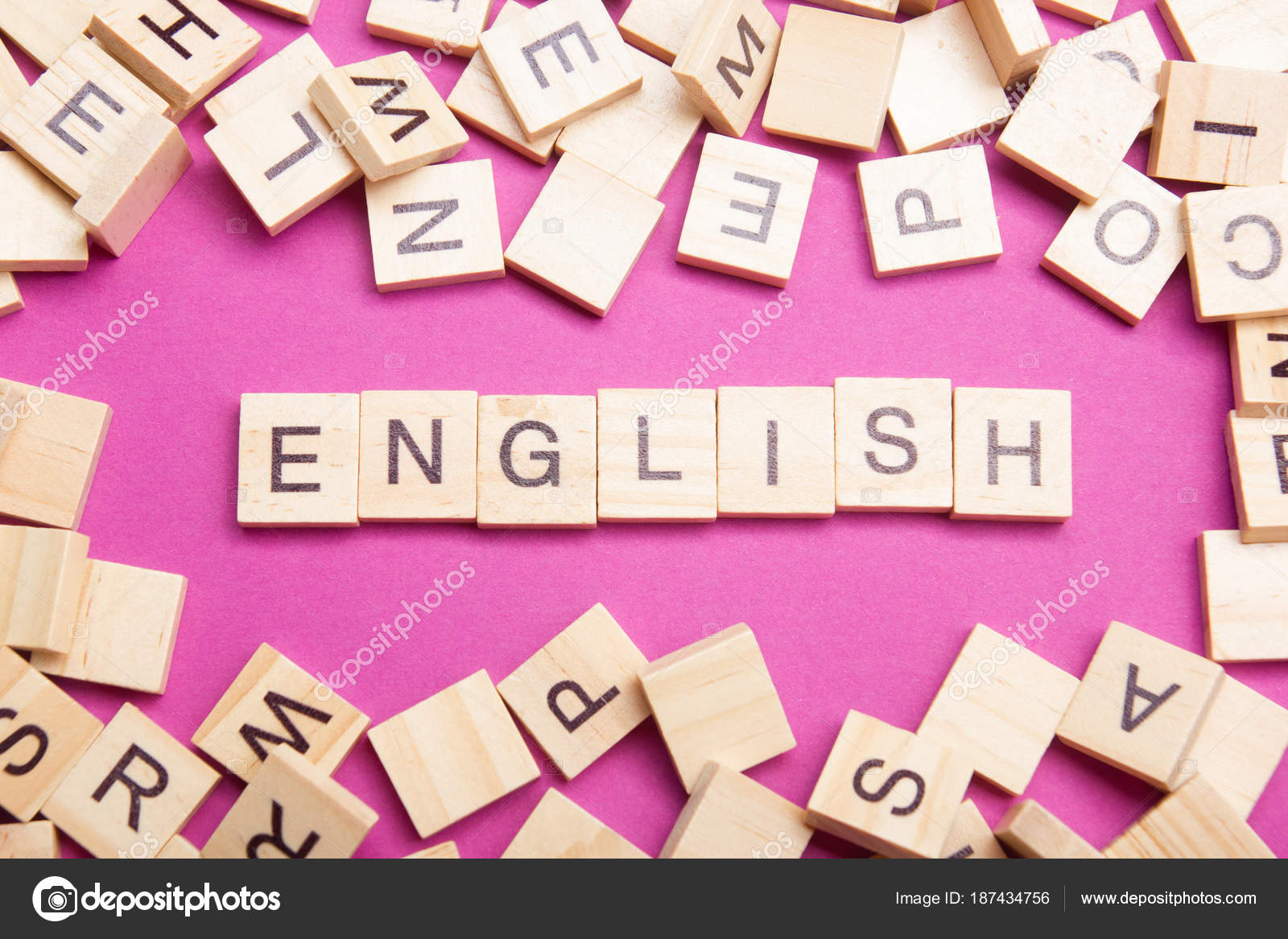 Learn English concept. Time to Learning languages. Word composed ...