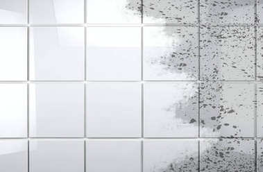 Clean tile wall bathroom background