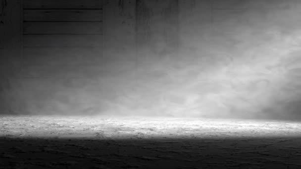 Kouře a mlhy vnitřní scény. Cementové podlahy pozadí tmavě room.3d obrázku
