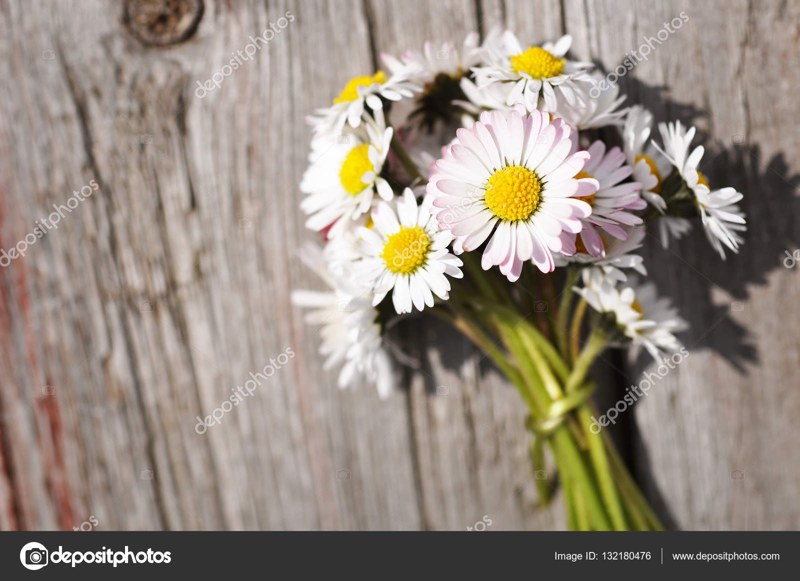 Bouquet of daisy flowers stock photo nixki 132180476 bouquet of daisy flowers on a wooden background photo by nixki izmirmasajfo