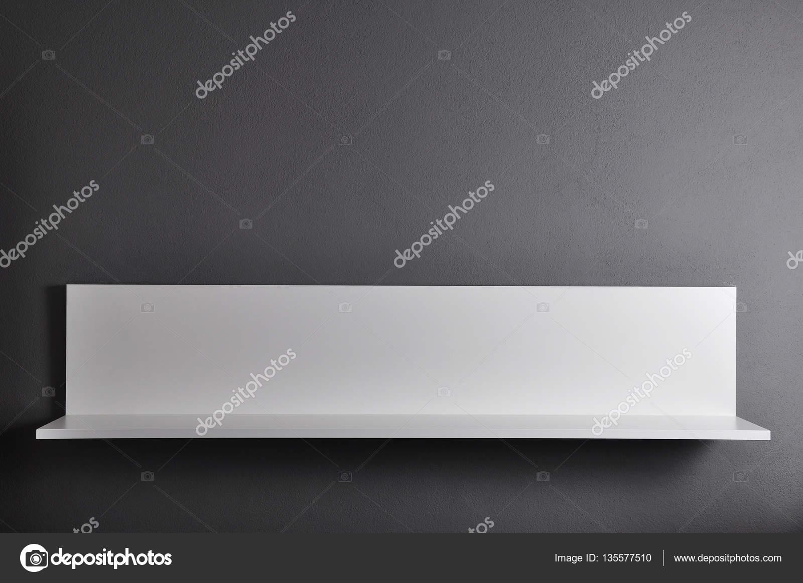 Białe Półki Na ścianie Szary Zdjęcie Stockowe Nixki