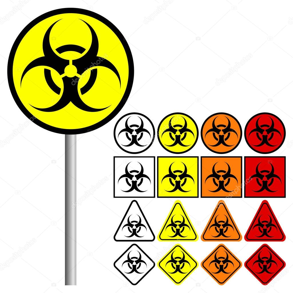 Biological Hazards Biohazard Symbol Icon Stock Vector