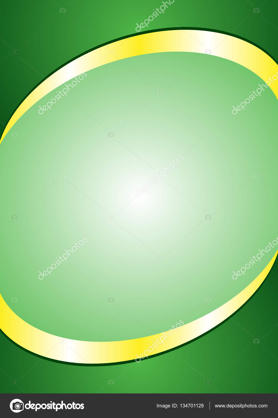 a4 poster background template green and gold color header and