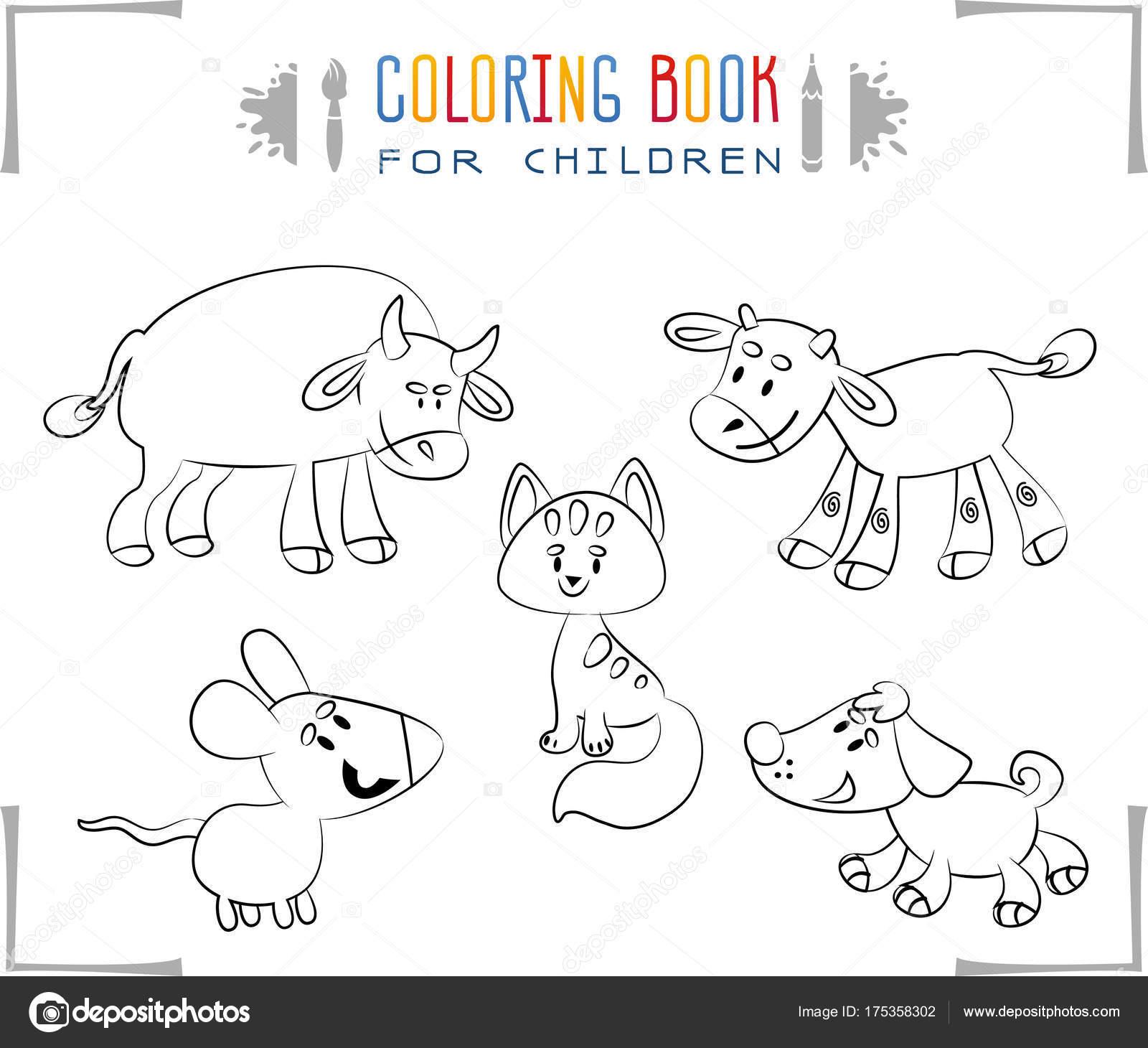 Descargar Libro Granja Animales Completo Libro Para Colorear Con