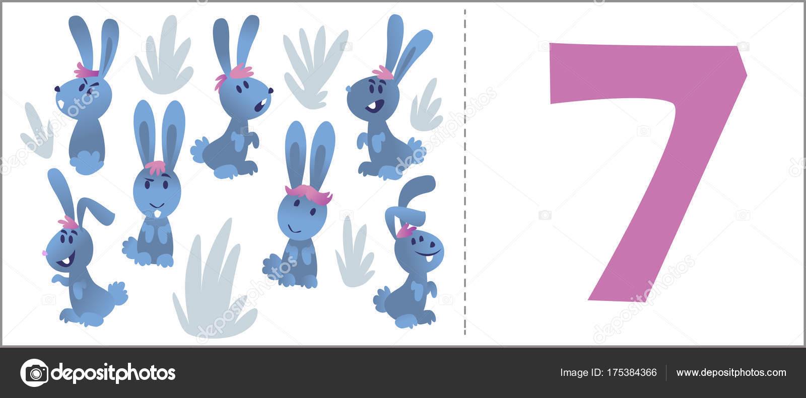 WSET Números Para Niños: Dibujos Animados De Animales