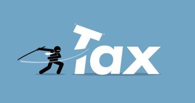 Tax cut by businessman.