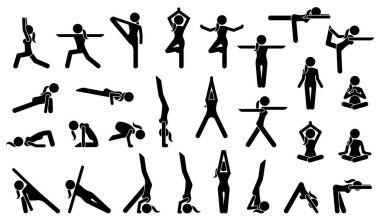 Woman Yoga Postures.