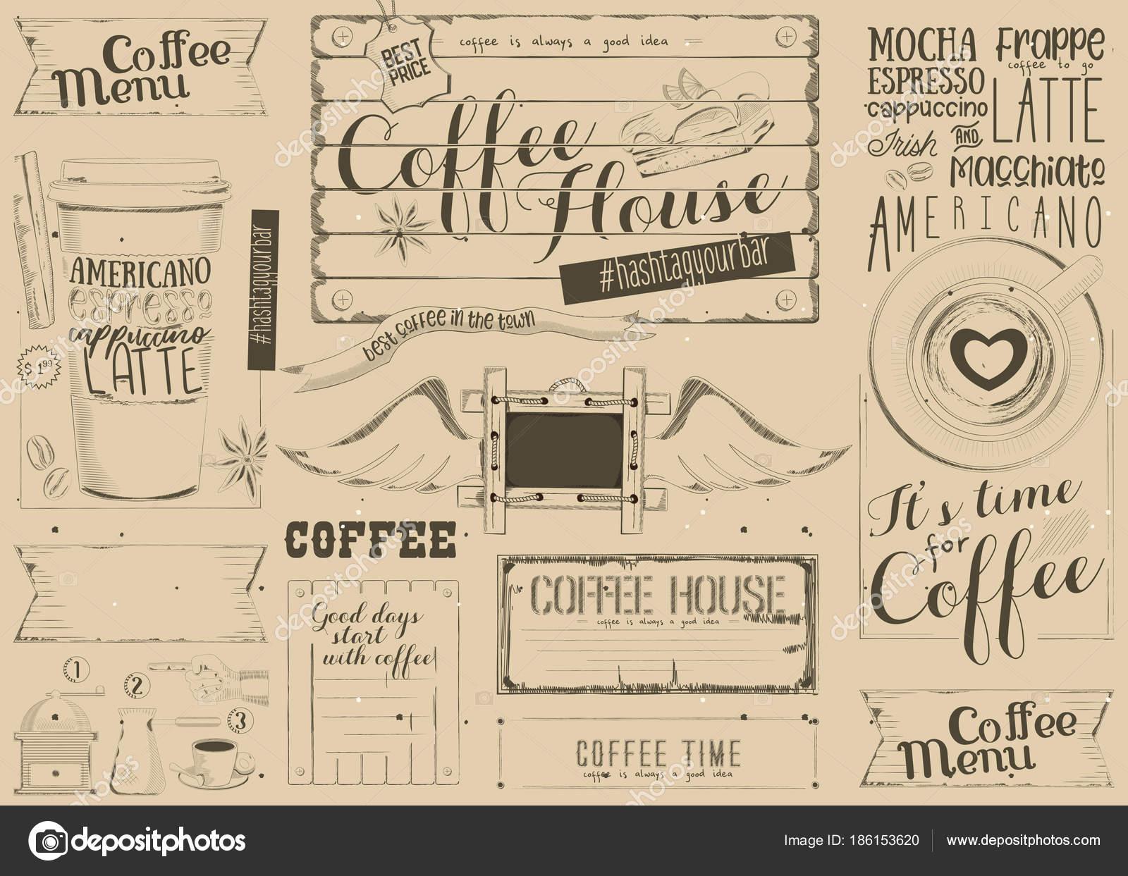 Mantel individual de café menú — Vector de stock © elfivetrov #186153620