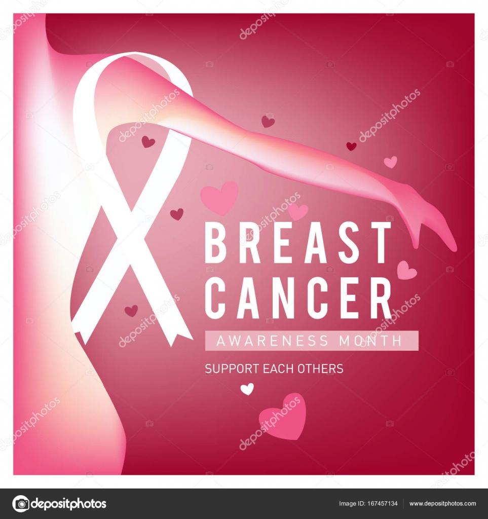Mama cáncer conciencia mes la tarjeta. Plantilla de cartel rosa ...