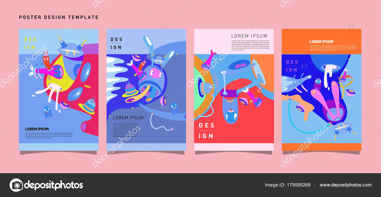 abstract modern toys design festival poster publications