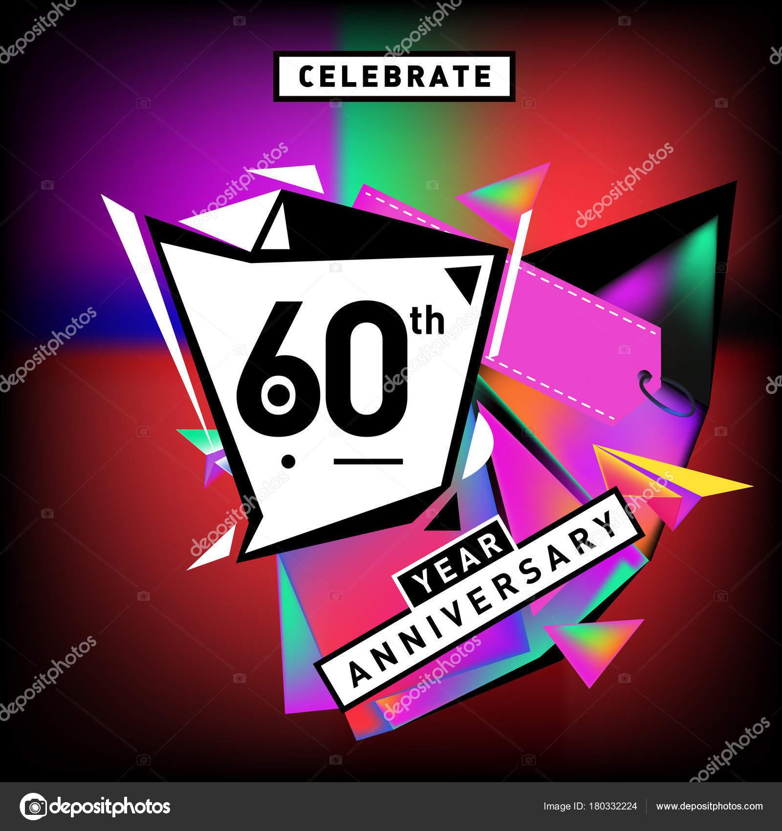 Karte 60 Geburtstag.Geburtstag Karte Mit Farbigen Hintergrund Geburtstagslogo