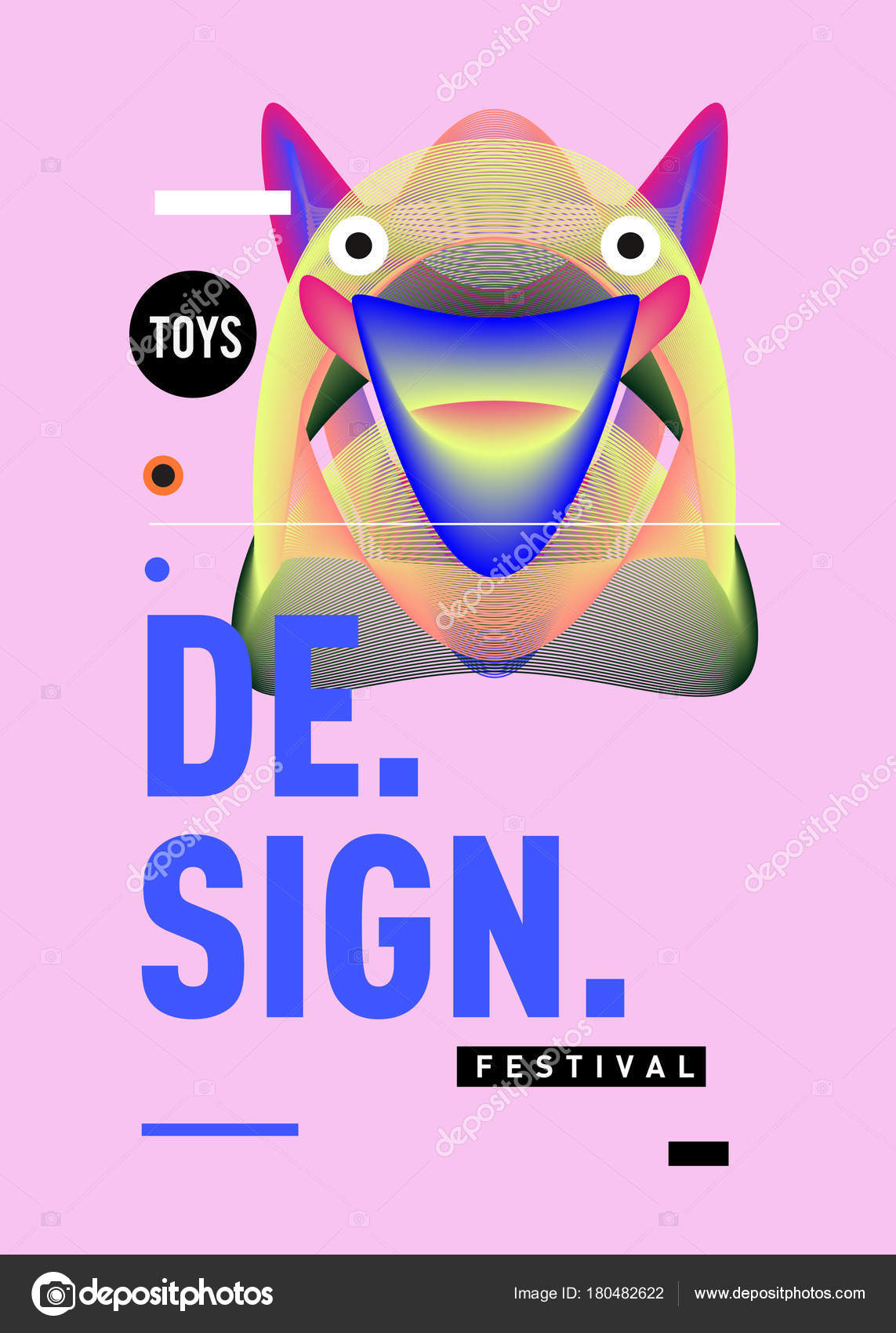 abstract modern toy design festival poster publications