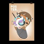 Abstraktní barevné křivky tekutý obal, plakát. Bublina obrazce rozvržení návrhu složení a šablona.