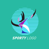 Barevný dynamický Sport Logo a ikony. Sportovní klání a šablona návrhu zdravotní aktivity.