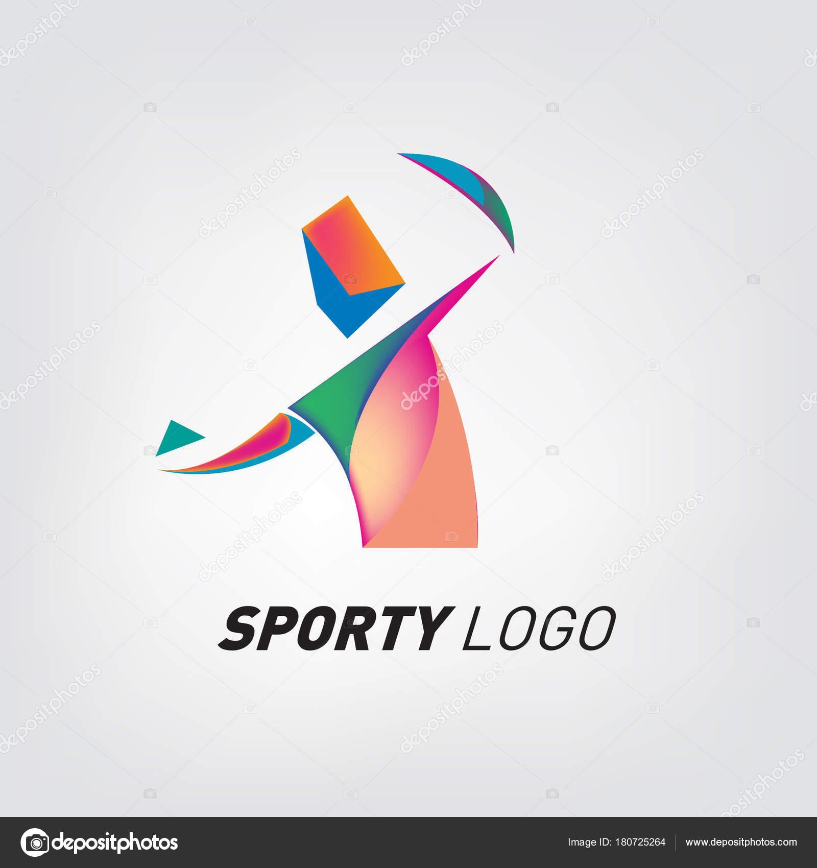 Logotipo De Juegos Deportivos Deporte Dinamico Colorido Logo Icono