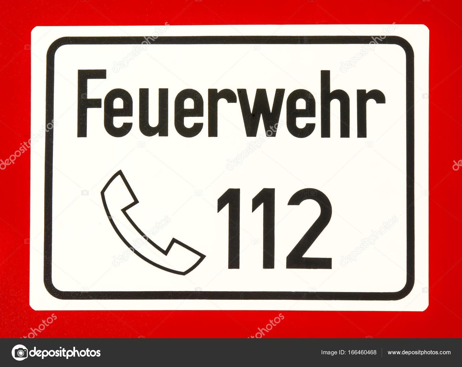 112, Европейский номер службы экстренной помощи, пожарной и скорой помощи–  Стоковое изображение