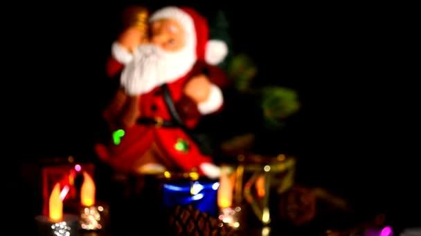 Vánoční dekorace s Santa Claus a dárky na točny