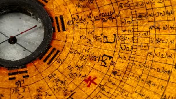 starožitné čínské Feng Shui kompasu na točny