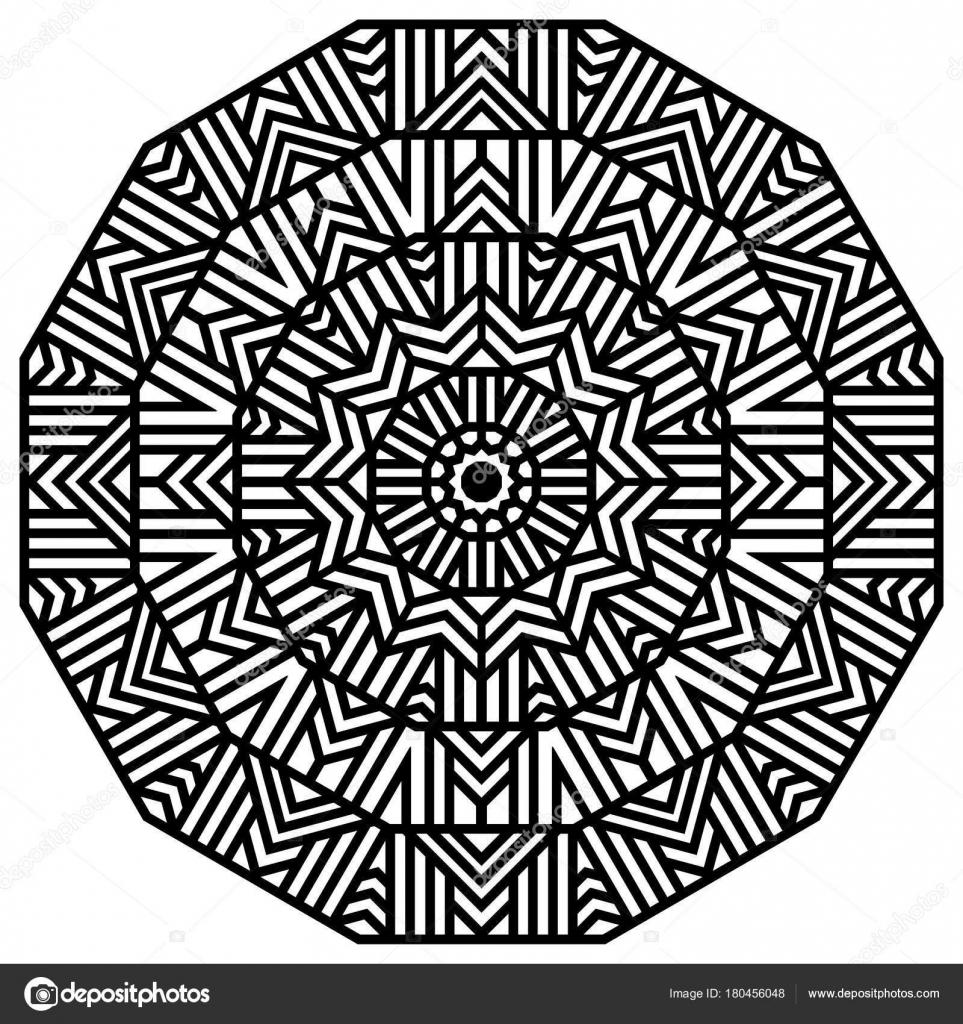 Malvorlagen Geometrische Mandala Dekorative Ornament Tribal Ornament ...