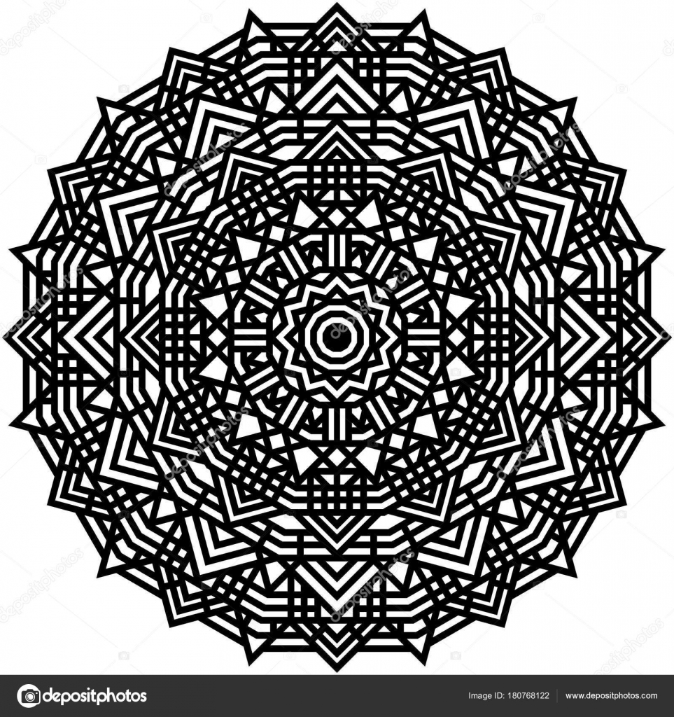 Malvorlagen Geometrische Mandala Dekorative Ornament Tribal Ornament ...