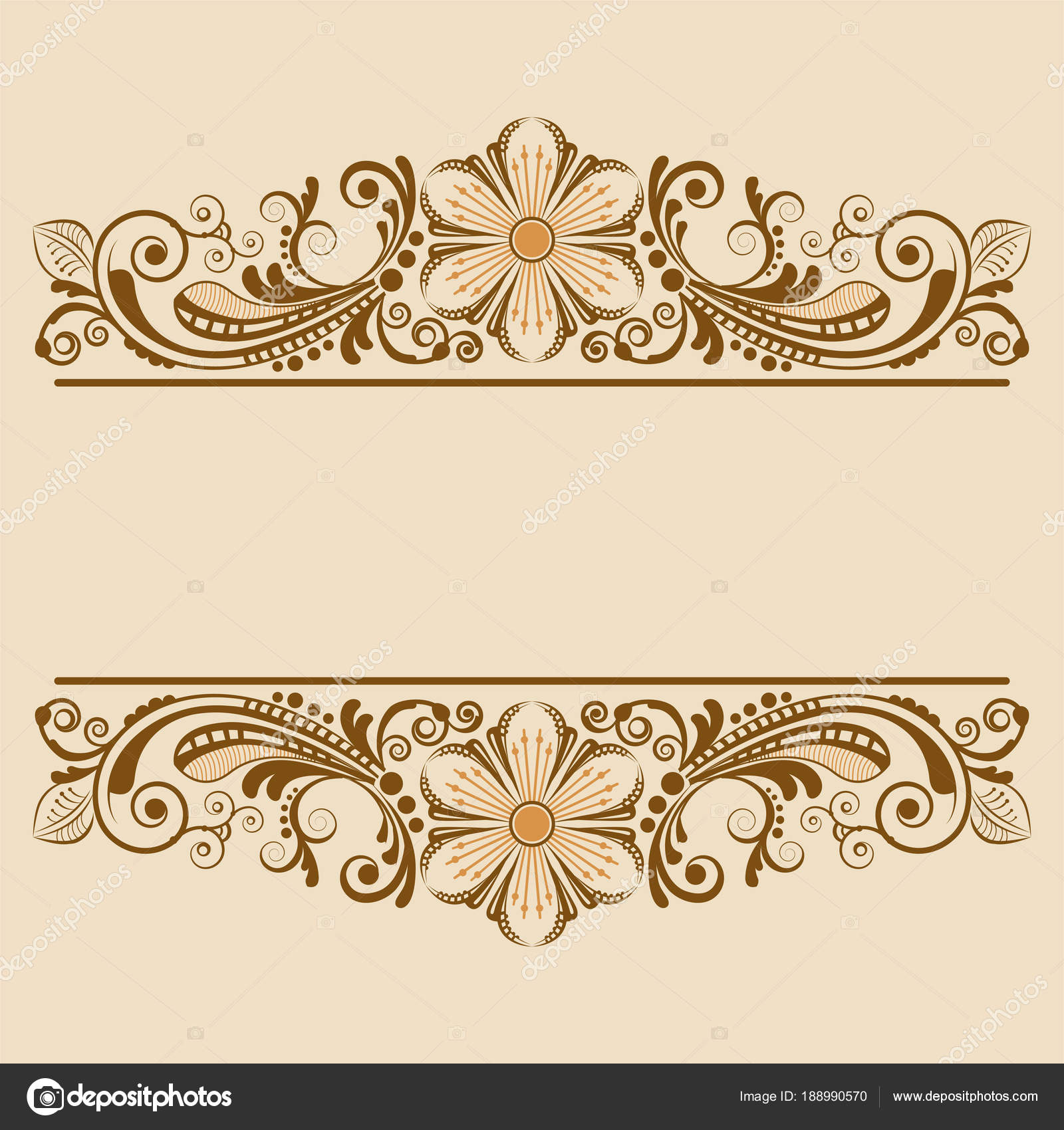 Vector Vintage Floral Background Decorative Flowers Design Stock