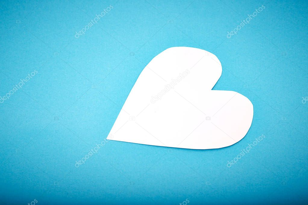 Heart shaped paper note