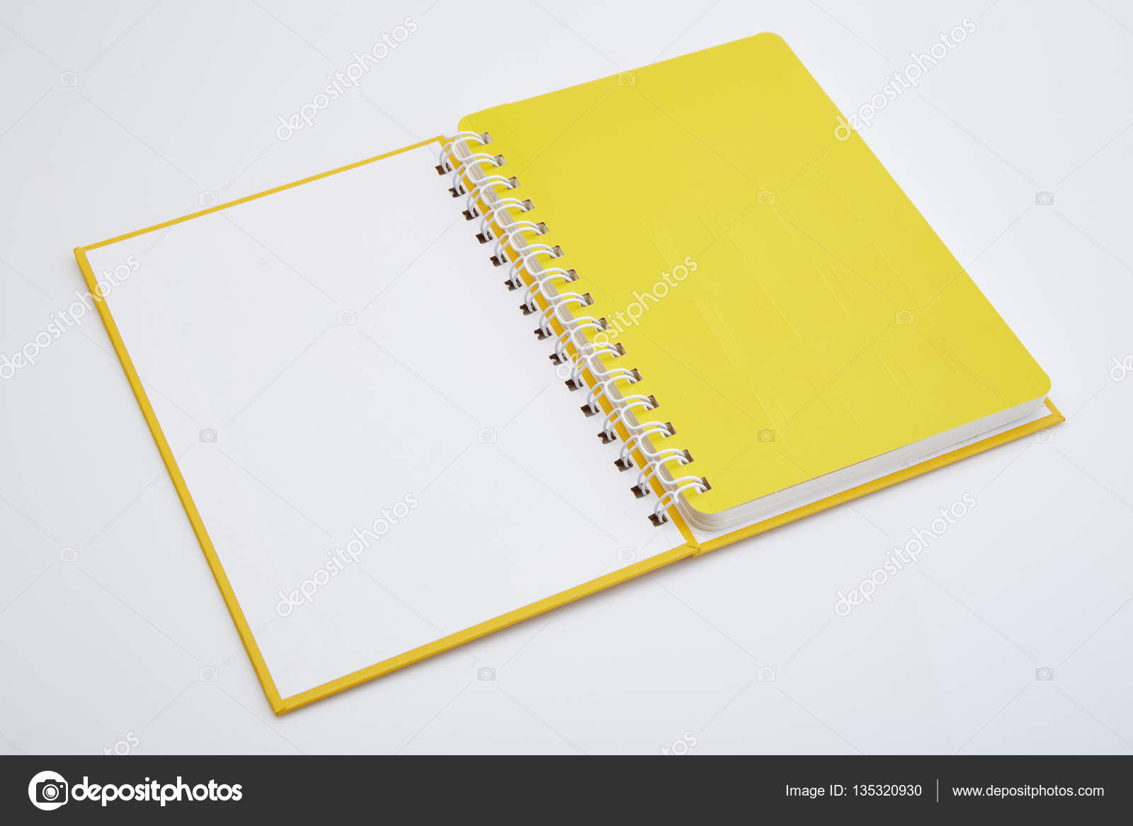 Yellow Notebook On White Background Stock Photo C Pongans68 Gmail