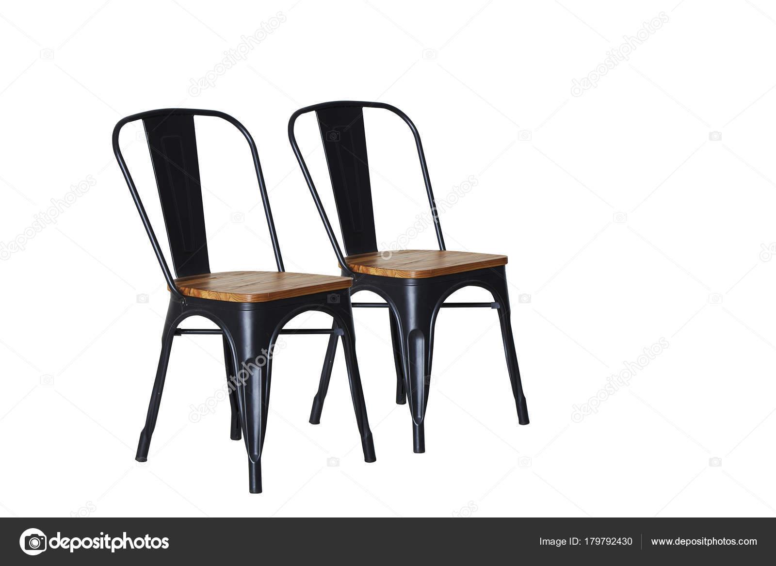 Mit Auf Stuhl Holz Aus Hellem Hintergrund Stahl Weißem PkTOiZuX