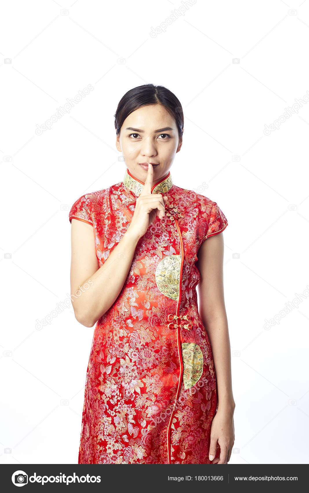 Asian girl greeting traditional chinese new year stock photo asian girl greeting in traditional chinese new year photo by pongans68gmail m4hsunfo
