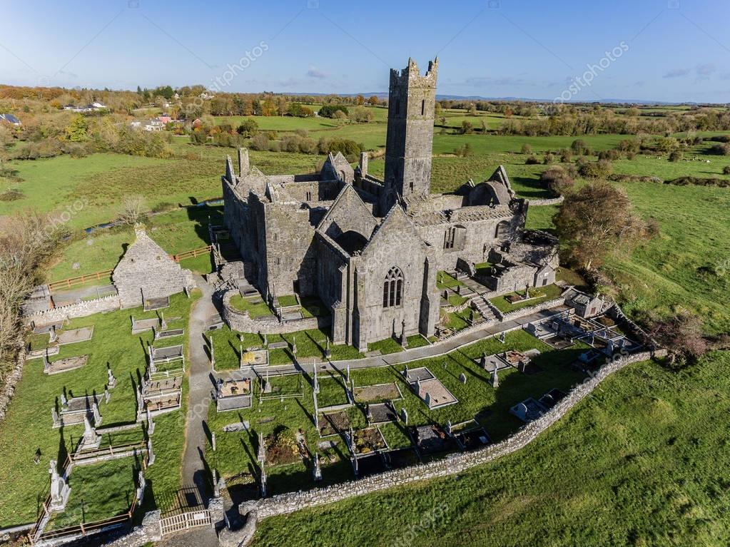 World famous irish public free tourist landmark quin abbey