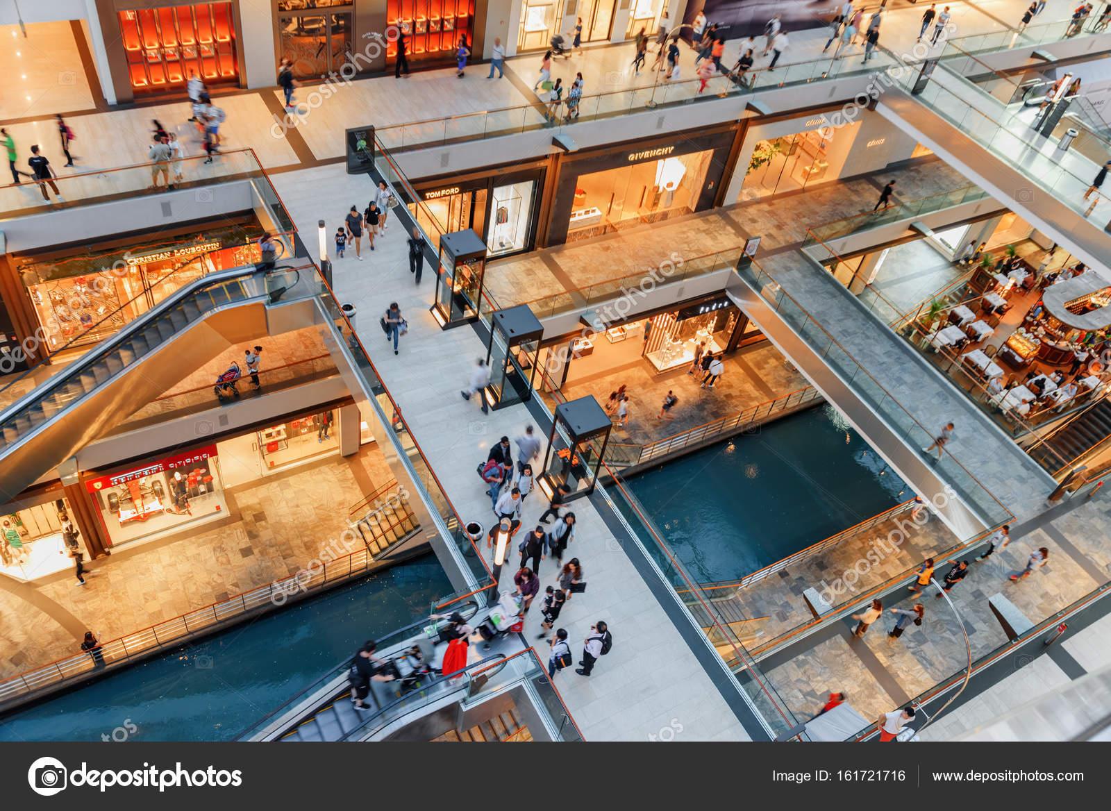 歩道、ザ ショップス アット マリーナ ベイ サンズの平面図 — ストック写真