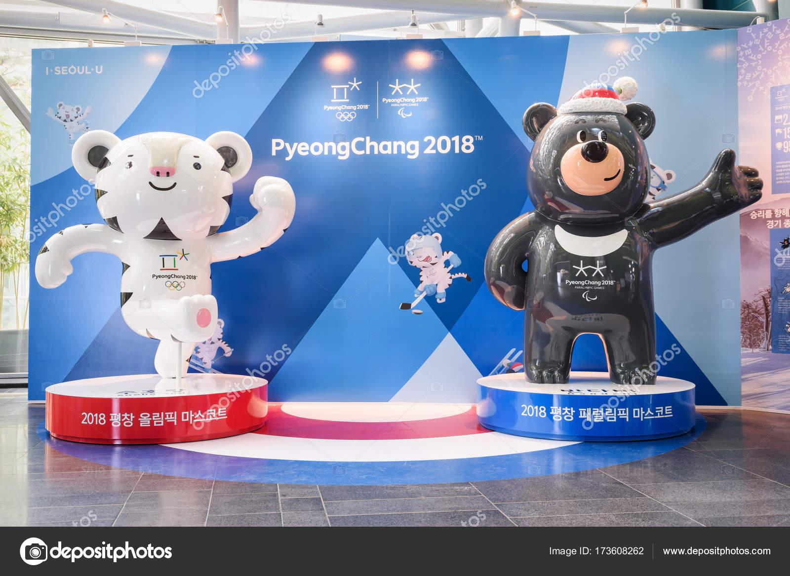 Mascotas De Los Juegos Olimpicos De Invierno De 2018 Y Paralimpicos