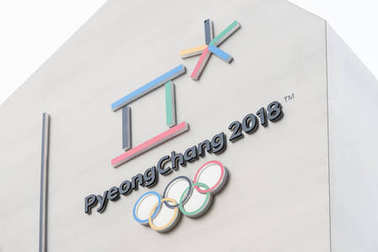 The official logo of the 2018 Winter Olympics in PyeongChang