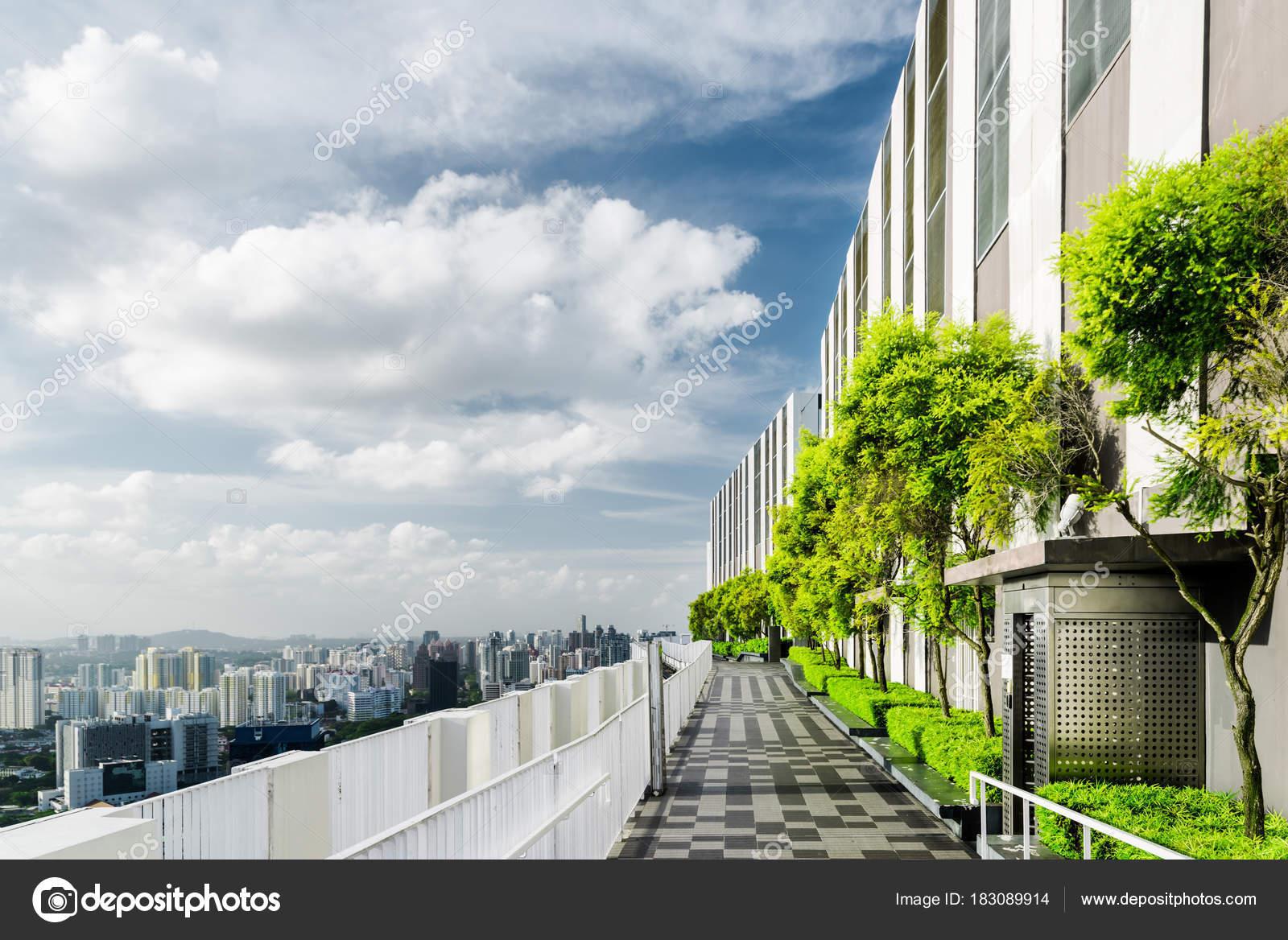 Giardino Sul Tetto In Singapore Terrazza Panoramica Esterna