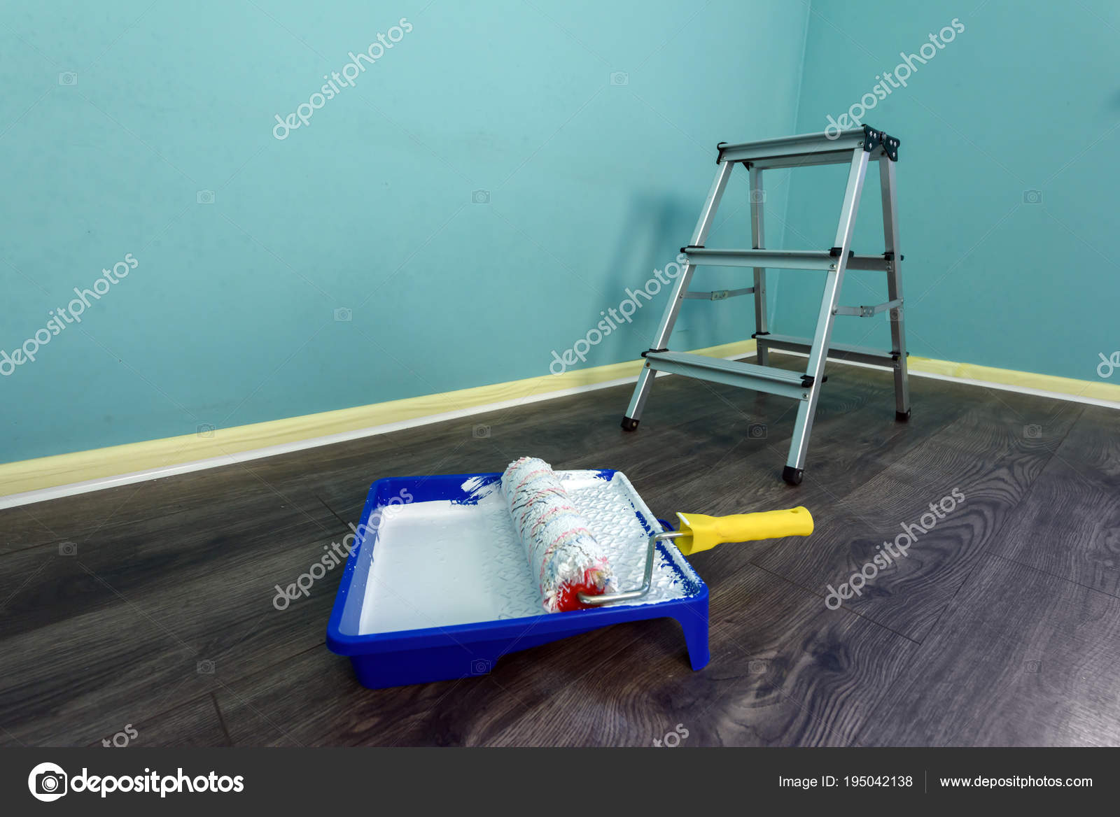 Painting Tools On Wall Background Stock Photo C Ivankmit 195042138