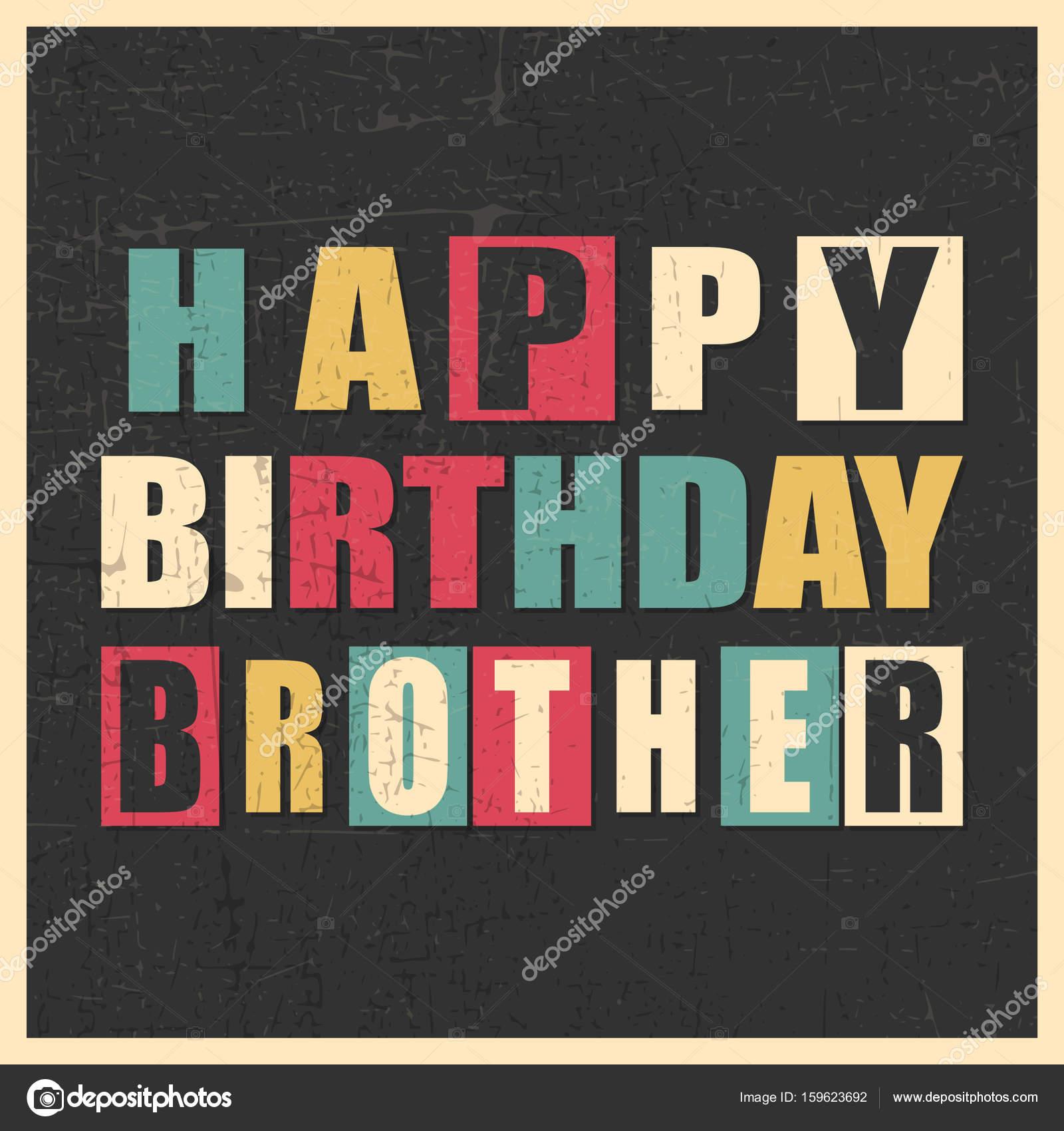 Alles Gute Zum Geburtstag Bruder Auf Schwarzem Hintergrund Mit