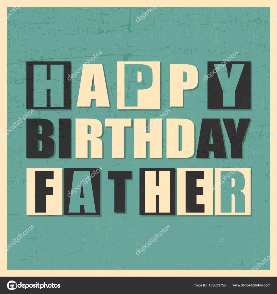 Gelukkige Verjaardag Vader Op Blauwe Achtergrond Met Grunge Vormen