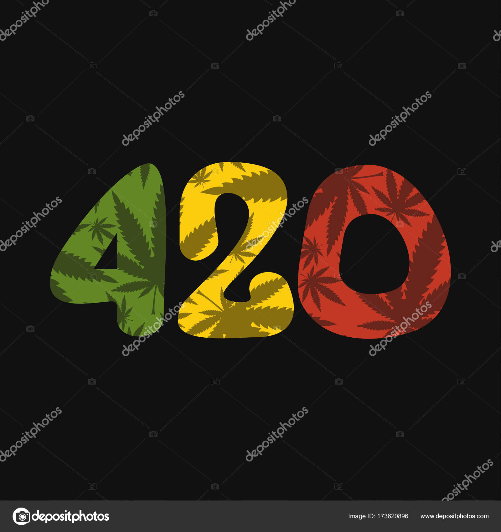 Color text 420 with cannabis leaf stock vector aleabievsasha decorative color background with marijuana leaf vector by aleabievsasha biocorpaavc