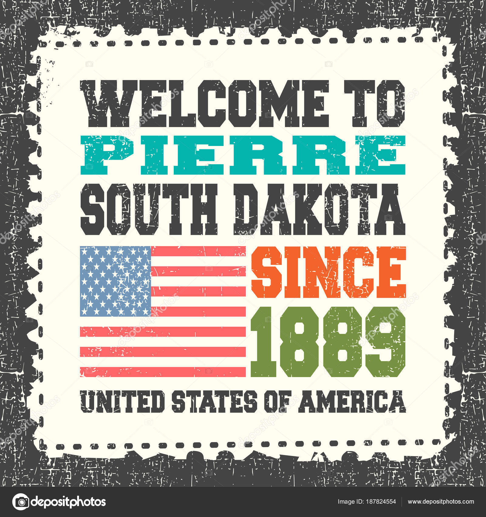 Invitation card text welcome pierre state south dakota 1889 american invitation card text welcome pierre state south dakota 1889 american vetores de stock stopboris Choice Image