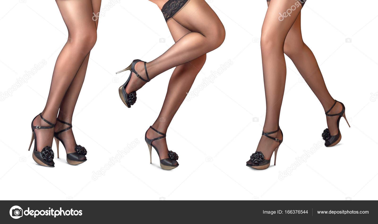 Сексуальные ножки на длинных каблуках