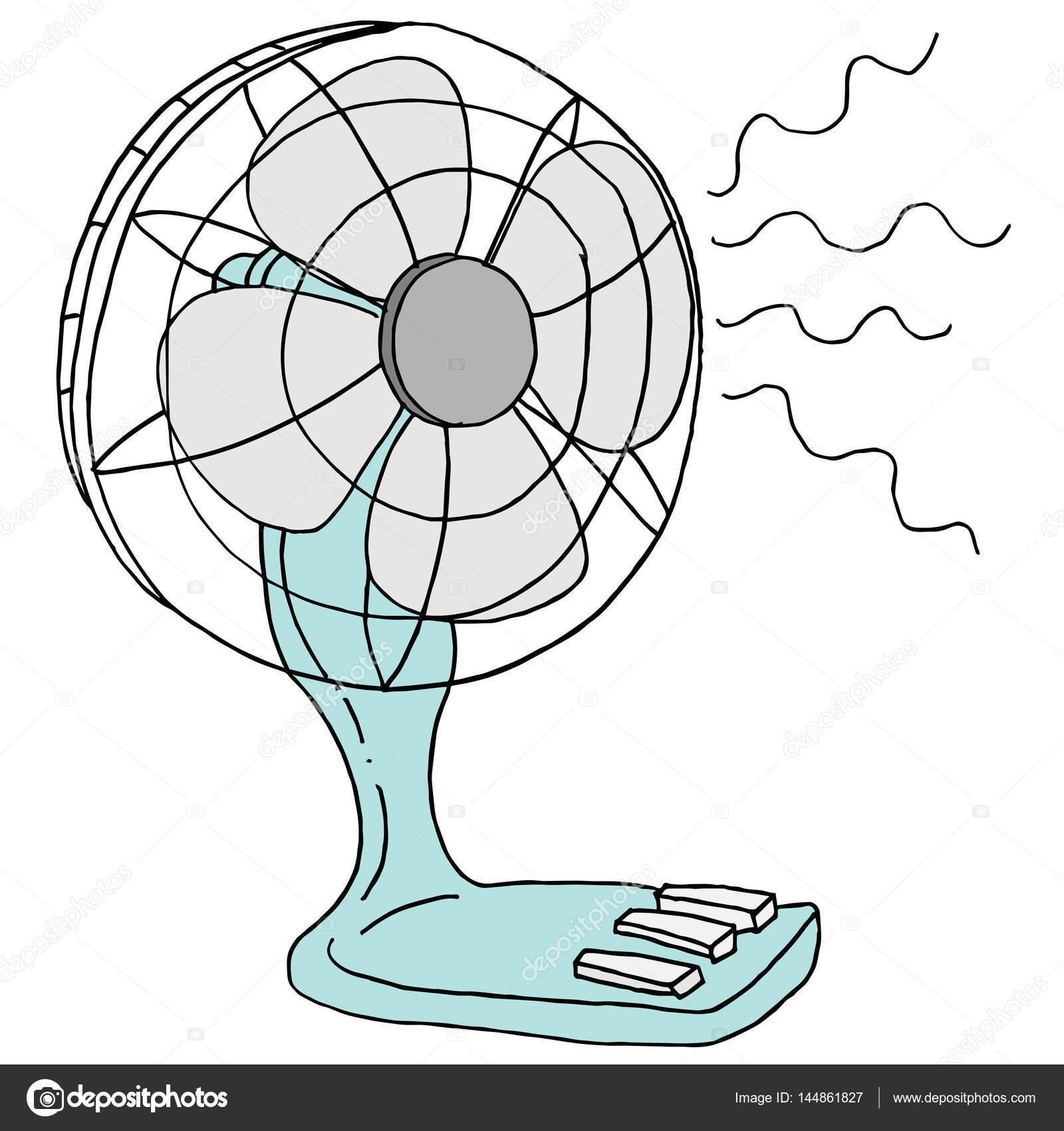 An Image Of A Small Desk Electric Fan Vector By Cteconsulting