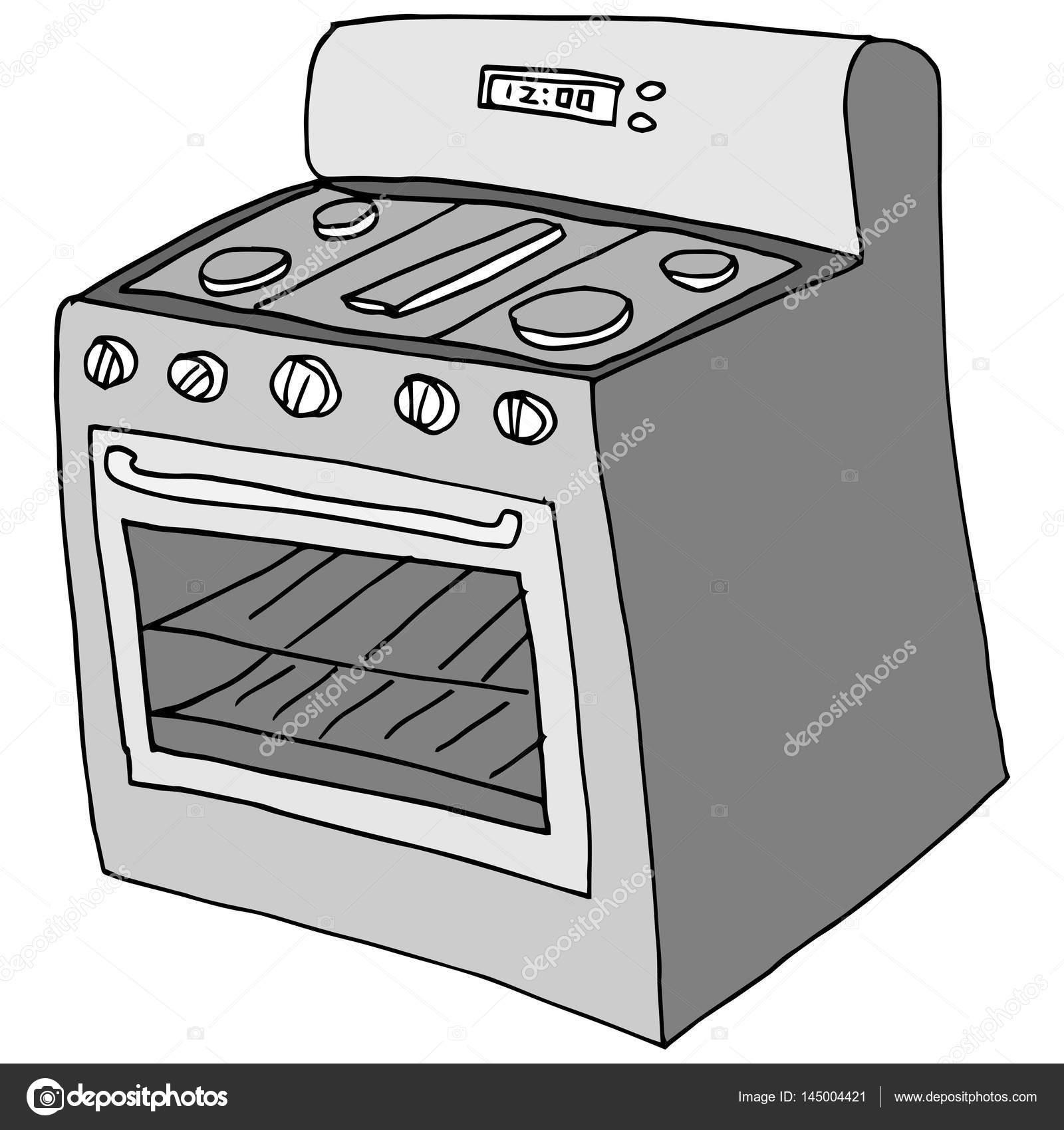 Retro cocina dibujo vector de stock cteconsulting for Cocina dibujo