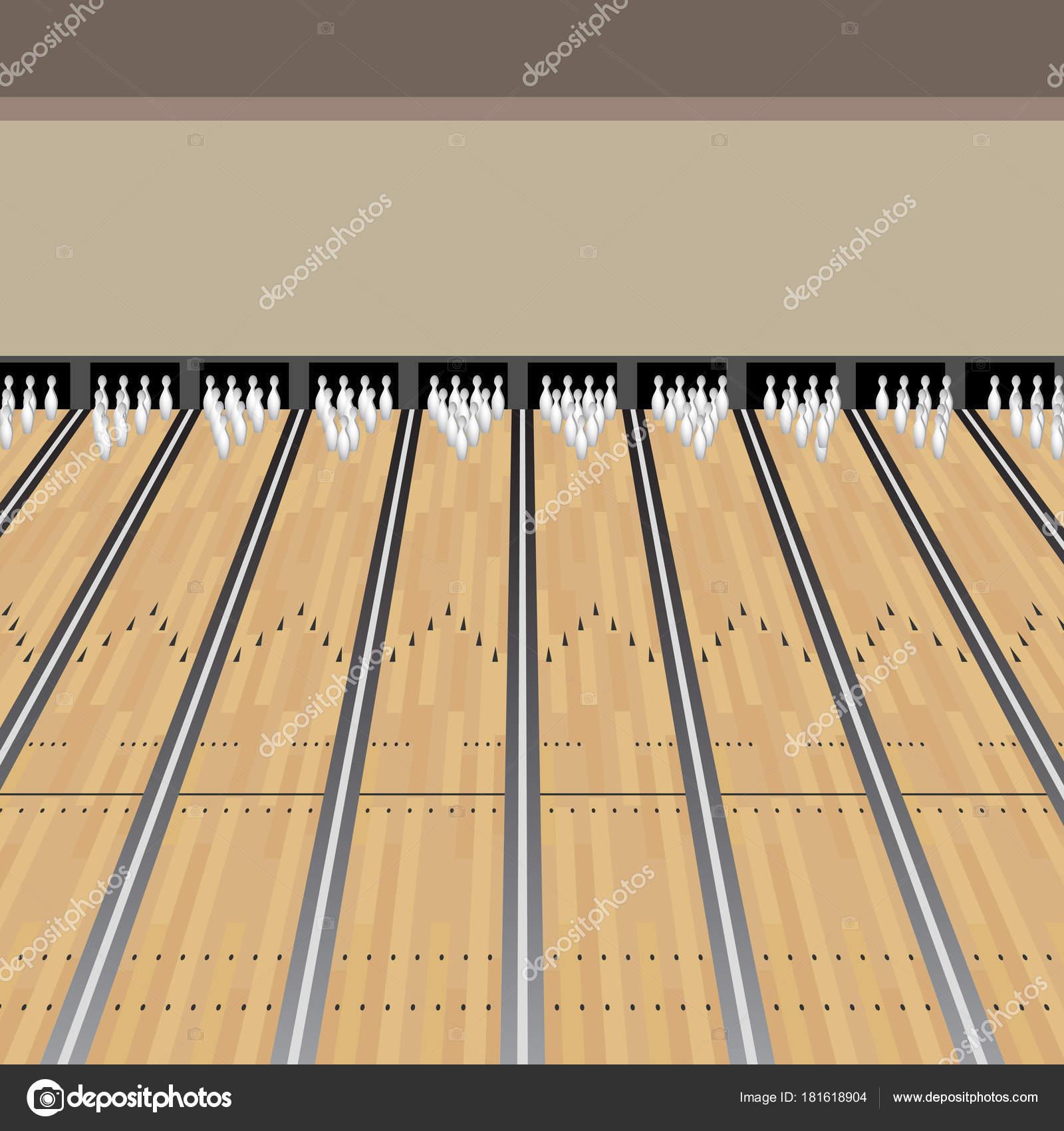 Bowling lanes clip art | Bowling Alley Lane Pins Game