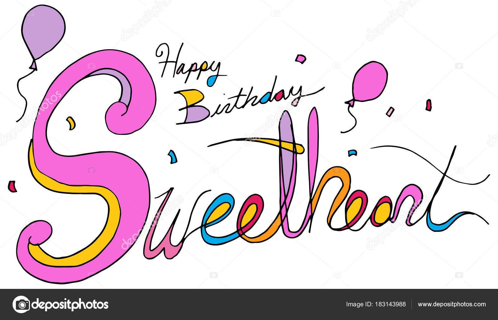 Alles Gute Zum Geburtstag Mein Schatz Ballon Konfetti Sms
