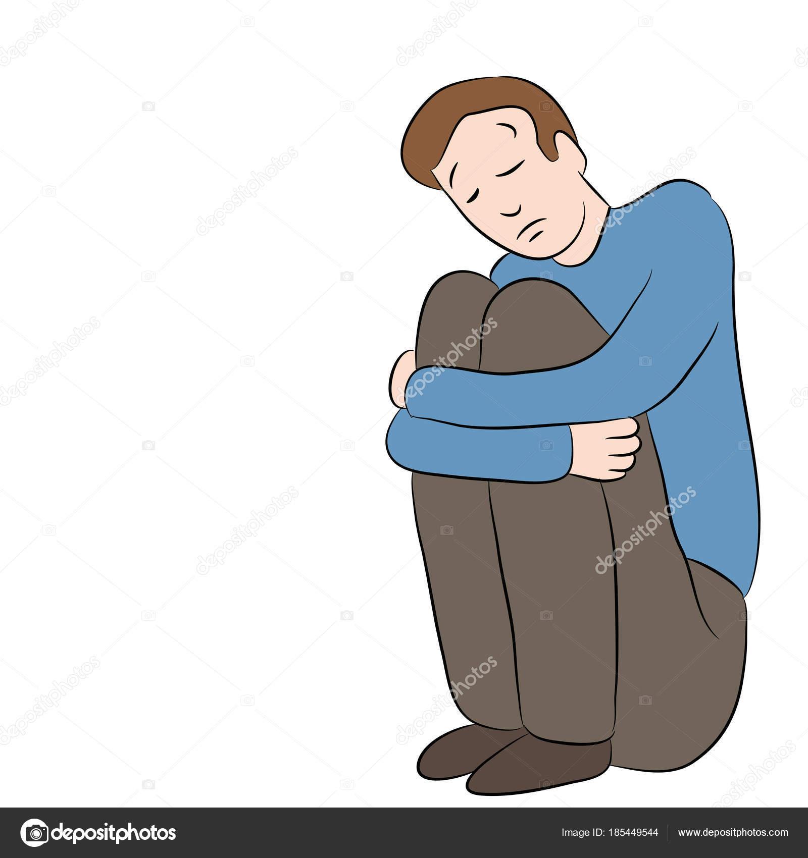 Depressed Sad Man Stock Vector C Cteconsulting 185449544