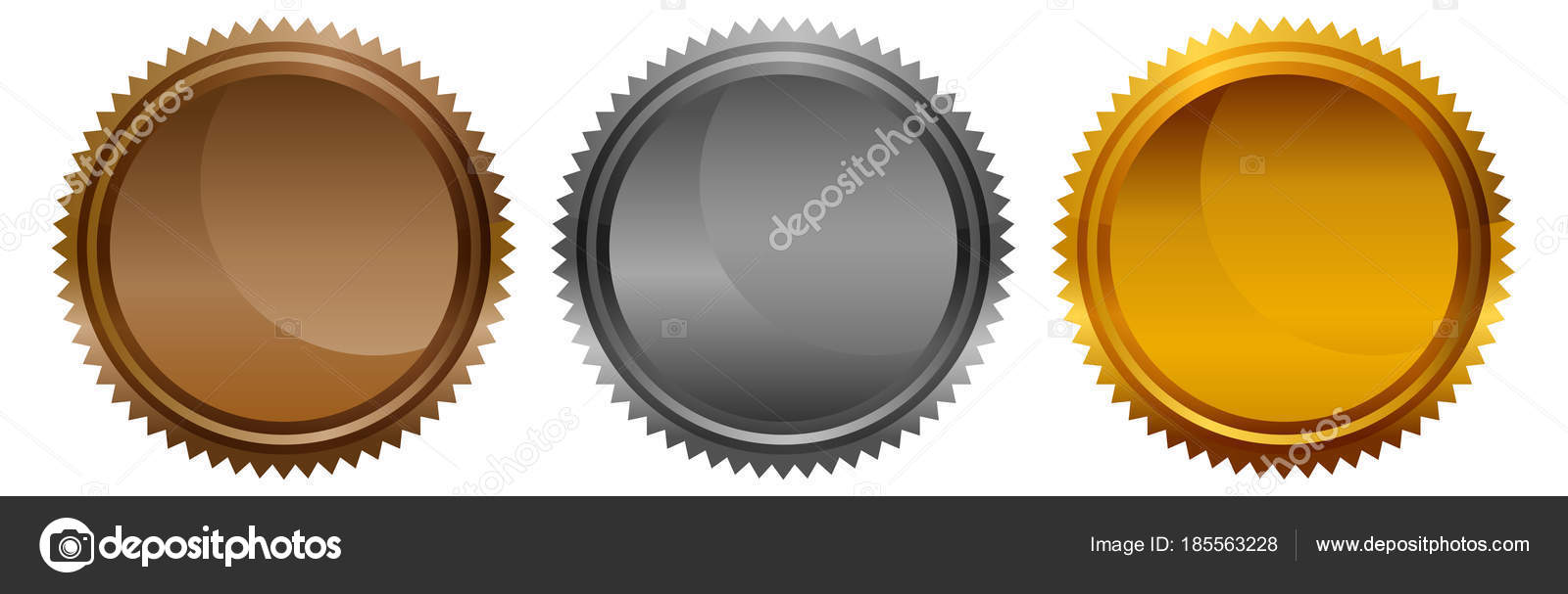 Leere Metall Bronze Gold Silber Stern Runde Münze Medaillen ...