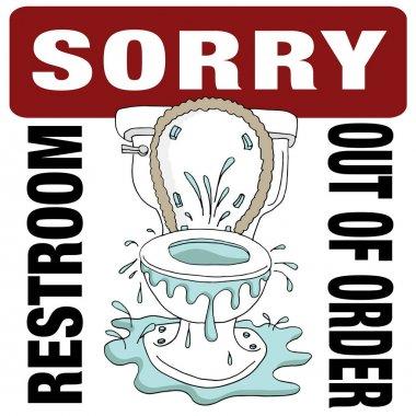Broken Toilet Sorry Restroom Out of Order